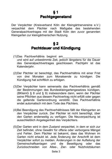 Pachtvertrag A5 2011 190511 Ohne Fotos Kgv Westhovener Aue Ev