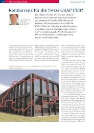 Konkurrenz für die Swiss GAAP FER? - Dr. Glanz & Partner