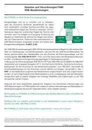 Gesetze und Verordnungen/TAB/ VDE ... - Striebel & John
