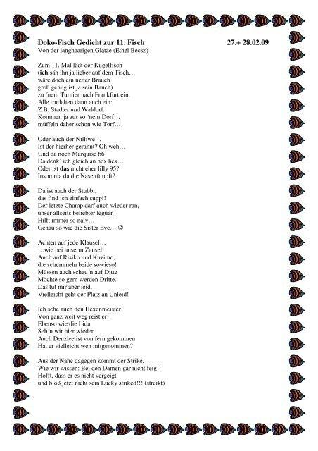 Doko Fisch Gedicht