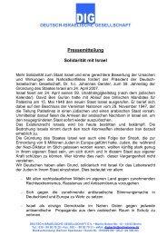 Vordruck mit Briefkopf - Deutsch-Israelische Gesellschaft eV