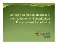 Einfluss von mikrobiologischen, physikalischen und chemischen ...