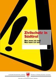 Zivilschutz in Südtirol - Provincia Autonoma di Bolzano