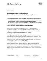 Roche organisiert Applied-Science-Geschäft neu
