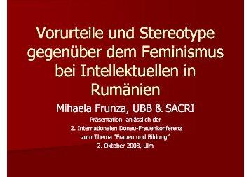 Vorurteile und Stereotype gegenüber dem Feminismus bei ...