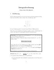 Integralrechnung (Skriptum)
