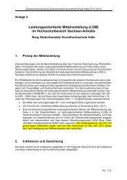 Leistungsorientierte Mittelverteilung (LOM) im Hochschulbereich ...