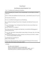 Wozu Priester? Eine Diskussion anhand liturgischer ... - derkeller.com
