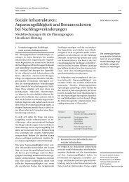 Soziale Infrastrukturen: Anpassungsfähigkeit und Remanenzkosten ...