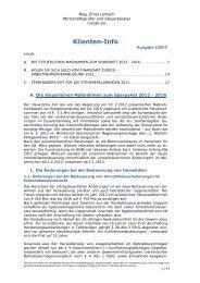 02-2012 Klienteninfo März - Kanzlei Mag. Ernst Lentsch in Innsbruck