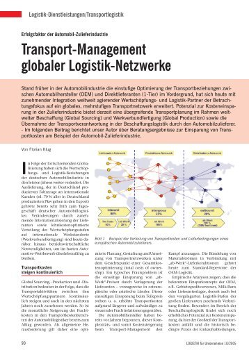 Transport-Management globaler Logistik-Netzwerke - Zalnet.de