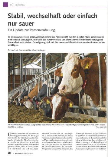 Stabil, wechselhaft oder einfach nur sauer (PDF, 1.5 MB) - Swissmilk