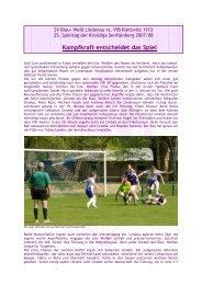 Kampfkraft entscheidet das Spiel - VfB Klettwitz 1913 eV