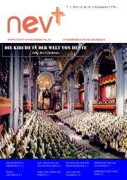 21/3 Die Kirche in der Welt von heute (7.7.2013) - Neuevangelisierung