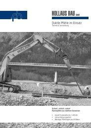 Duktile Pfähle im Einsatz - Hollaus Bau GmbH