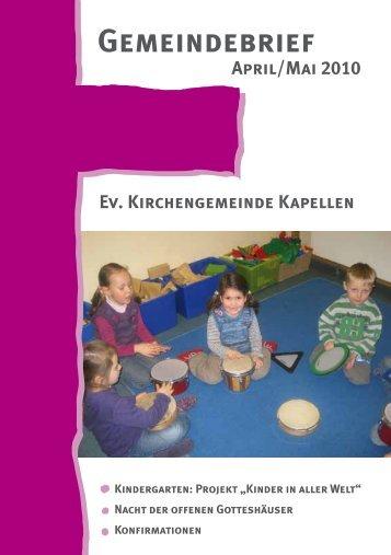 Gemeindebrief 2 2010 - Evangelische Kirchengemeinde Moers ...