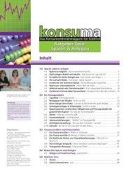 Ratgeber Geld - Sparen und Anlegen - Verbraucherzentrale Südtirol