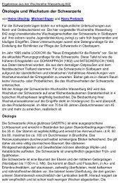 Ökologie und Wachstum der Schwarzerle - Bayerische ...
