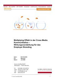 Multiplying Effekt in der Cross Media Kommunikation ...
