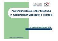 Ionsisierende Strahlung in medizinischer Diagnostik und Therapei ...