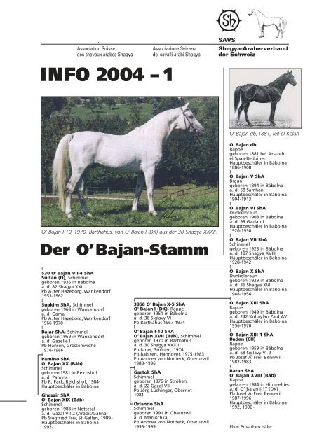 Der O'Bajan-Stamm