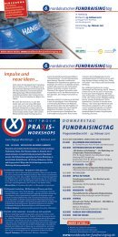 PrAXis- WorkshoPs - Norddeutscher Fundraisingtag