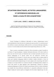 Situations didactiques, activités langagières, et différences ...