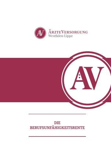 Die Berufsunfähigkeitsrente - Ärzteversorgung Westfalen-Lippe