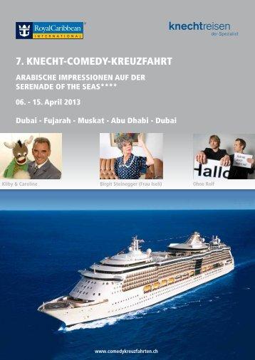 Flyer Comedy-Kreuzfahrt - Kliby und Caroline