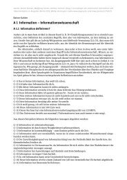 A 1 Information – Informationswissenschaft