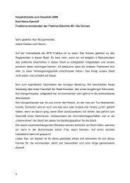 Karl-Heinz Kandolf - Haushaltsrede zum Haushalt ... - Stadt Kevelaer