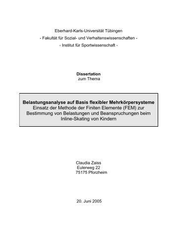 Belastungsanalyse auf Basis flexibler Mehrkörpersysteme Einsatz ...