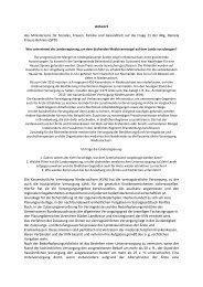 Antwort des Ministeriums für Soziales, Frauen ... - Daniela Behrens
