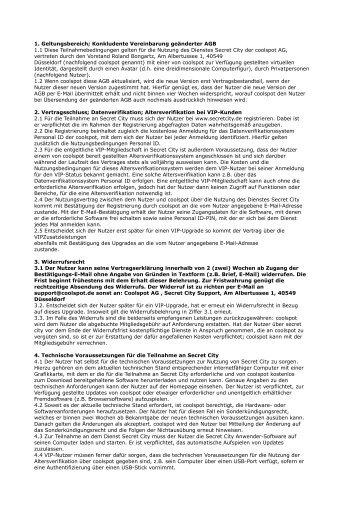 1. Geltungsbereich; Konkludente Vereinbarung geänderter AGB 1.1 ...