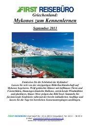Mykonos zum Kennenlernen - First Reisebüro