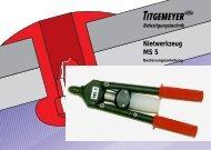 Nietwerkzeug MS 5 - Titgemeyer