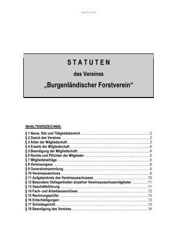 die statuten des burgenlÃĪndischen forstvereins (pdf ... - forstverein.org