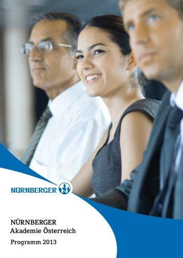 Programm 2013 - Nürnberger Versicherung AG