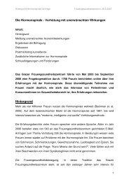 Die Hormonspirale - Verhütung mit unerwünschten ... - Ab-server.de