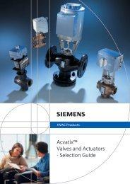 Acvatix™ Valves and Actuators - Selection Guide