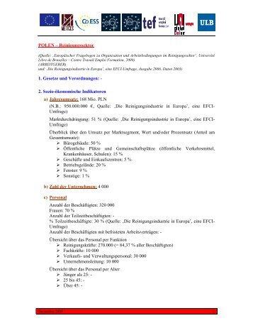 POLEN – Reinigungssektor 1. Gesetze und ... - UNI Global Union