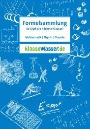 Formelsammlung zum Download (2994 KB) - Klassewasser.de
