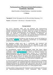 Fachausschuss Pflanzenschutzmittelresistenz – Insektizide, Akarizide