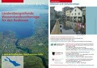 Allgemeine Hinweise zur Wasserstandsvorhersage für den Bodensee