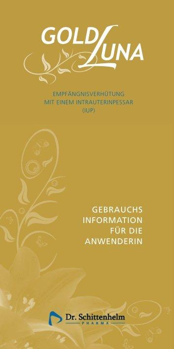 gebrauchs information für die anwenderin - Intrauterinpessar zur ...