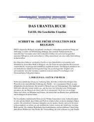 Das Urantia Buch - Schrift 86 - Die Frühe Evolution der Religion