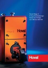 Hoval Mega-3 3-Zug-Hochleistungs- kessel für Öl/Gas von 380 bis ...