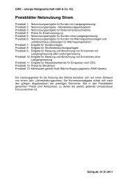 Preisblätter GWE Netznutzung Strom ab 01.01.2011 1