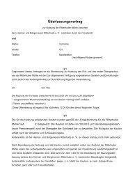 Überlassungsvertrag - Die Ritterhuder Mühle