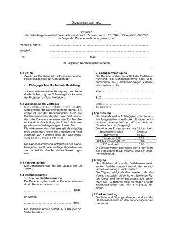 Darlehensvertrag 221 70974 1 Darlehensgeber